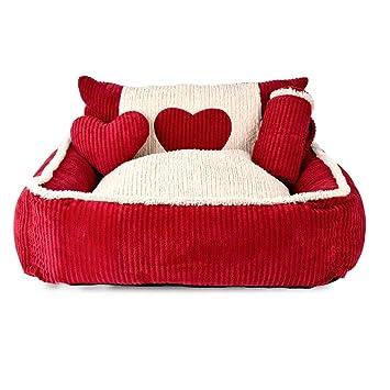 Mochila Paraguas de cama para mascotas con respaldo alto desmontable y lavable Almohadilla de perro para
