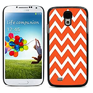 Graphic4You Chevron Pattern Design Hard Case Cover for Samsung Galaxy S4 S IV (Orange)