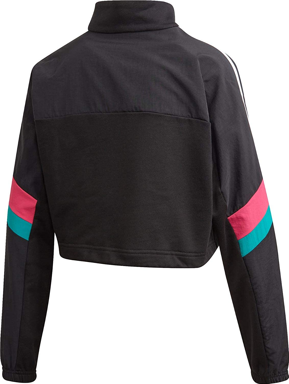 adidas Blocked Half Zip Crop W Sweater Schwarz