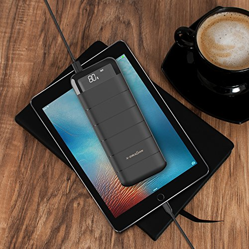 vitality Bank X Dragon skinny 15600mAh External Battery Pack mobile Charger higher velocity ask for improve success 2A enter Digi vitality technologica and vivid LED ideal for PhoneX 8 7 6 6S Plus Androids more display Accessories