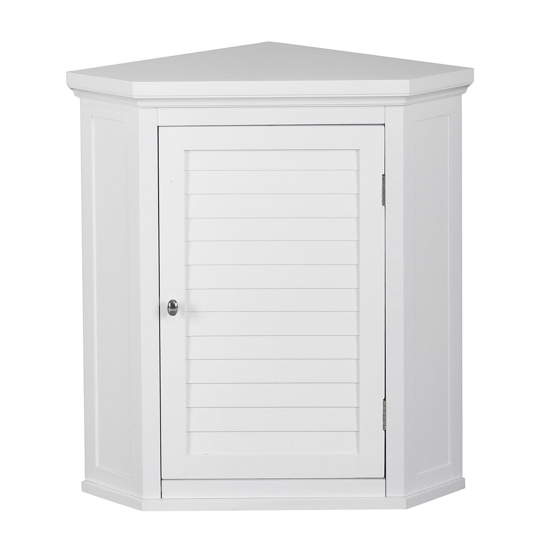 Elegant Home Fashions Adriana Corner Wall Cabinet with 1-Shutter Door