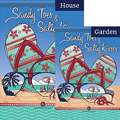 Carson Sandy Toes and Salty Kisses Flag Bundle (Bundle Of 2)