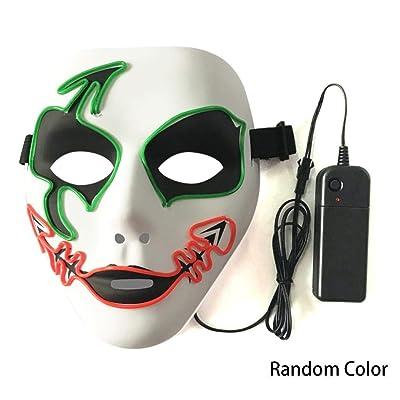 Amiubo Máscara de iluminación EL unisex para proveedores de fiesta de discoteca Masquerade Máscaras para adultos: Bricolaje y herramientas