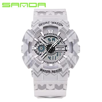 Amh de Sanda de 999 estilo completo saludable Lifestyle Reloj Deportivo Lujo Doble Pantalla Luz Fría
