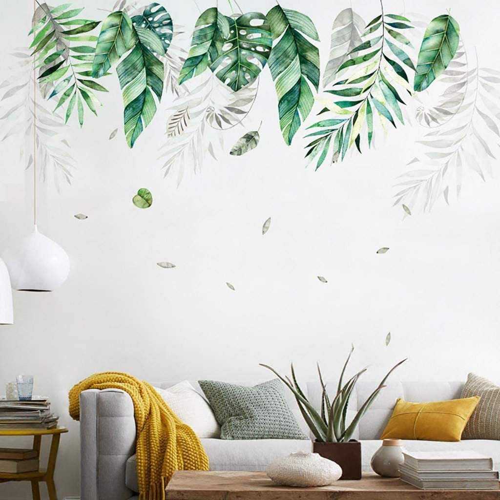 Wall Decal Tropical Leaf Leafs Wall Sticker Nature Home Decor Wall Pattern