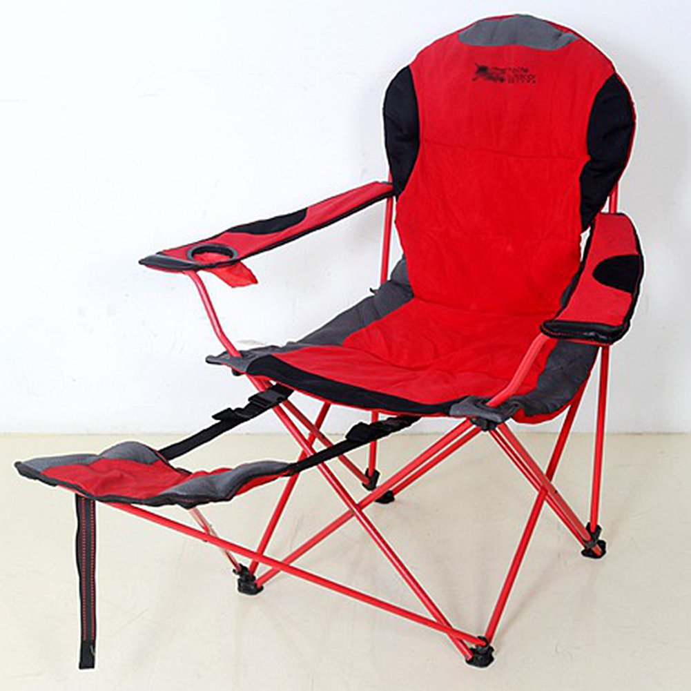 WUPO Freizeit-Klappstuhl mit Füßen - Portable Camping Angeln Stuhl, Hausgarten Balkon, 600D Oxford Tuch und Baumwolle, Lager 120kg