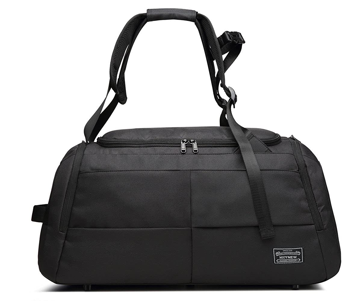 7e36b922bb01 KEYNEW 55L Convertible Travel Duffel Backpack Sports Gym Bag with Shoe  Compartment