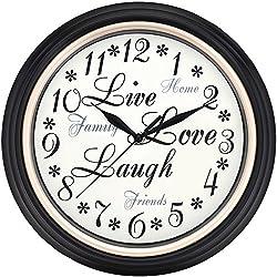 WESTCLOX 32032 12 Round Live Love Laugh Message Clock Home, garden & living