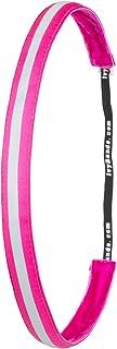Ivybands Headband-The Non Slip Headband | Special Neon Pink Reflective Slim Line, 5/8-Inch Wide Neon Pink Reflective Headband, Pink, One Size, IVY789 by Ivybands IvybandsÃ'®