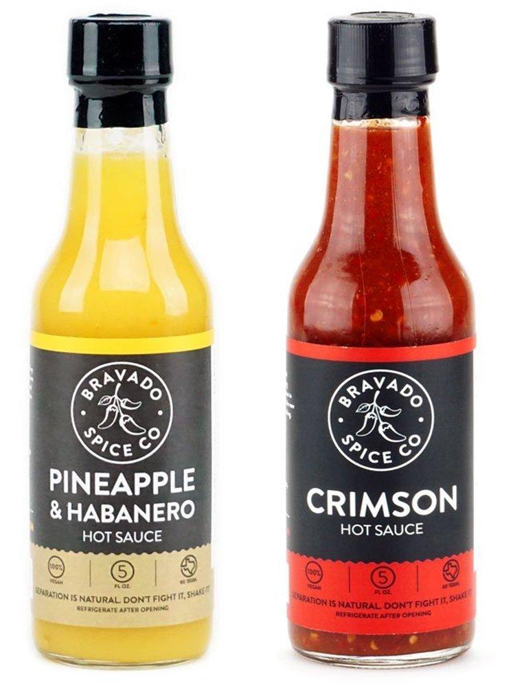 Bravado Spice Co. Hot Sauce 5 oz Bottles Gift Set (PINEAPPLE + CRIMSON) by Unknown (Image #1)