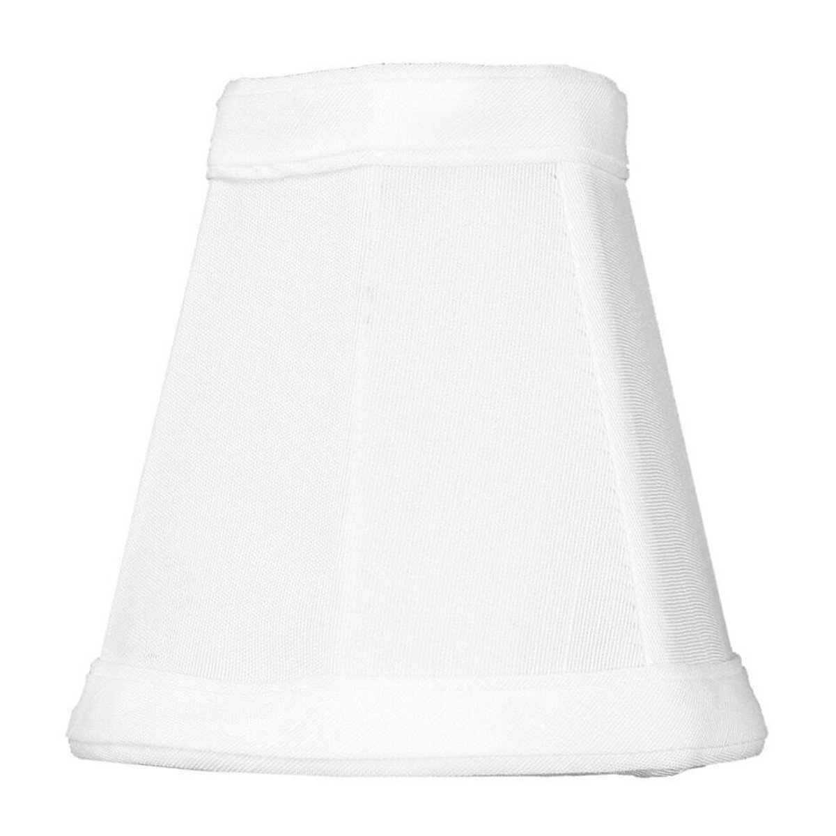 2x4x4 Candelabra Stretch White Clip-On Lampshade By Home Concept - Perfect for chandeliers, foyer lights, and wall sconces - Small, White