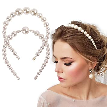 Lovely Imitation Pearl Alice Band Hair Band Headband Wedding Hair Accessories