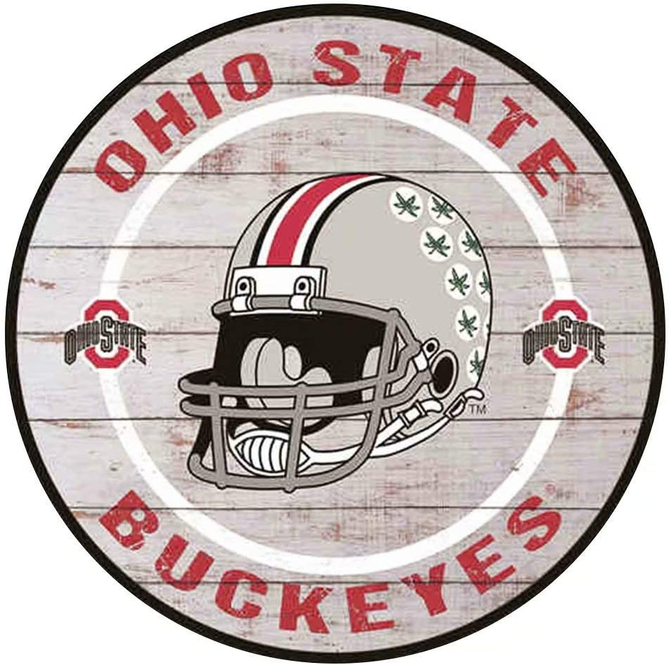 YOMIA Tin Signs Vintage Ohio State Buckeyes Decor Metal Signs Bar Signs for Home Decor 12X12 Inches