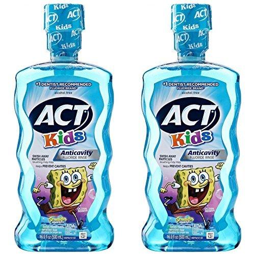 Act Kids Anti-Cavity Mouthwash, Sponge Bob Squarepants, 1...