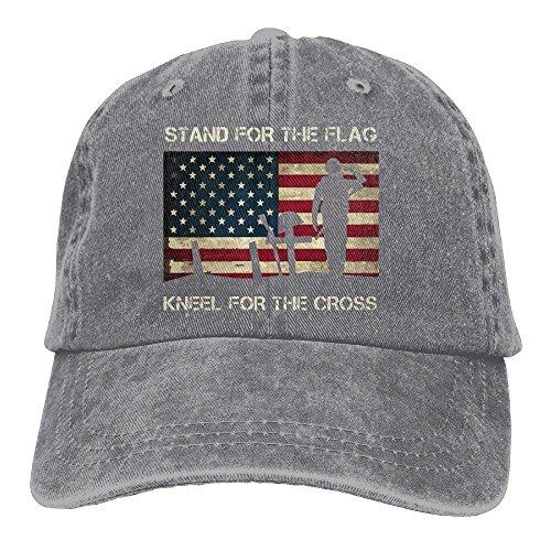 HHNLB Unisex Patriotic American Flag Veterans Day Vintage Jeans Baseball Cap Classic Cotton Dad Hat Adjustable Plain Cap