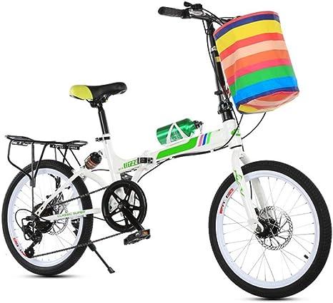 KXDLR Bicicletas 20 Pulgadas Bicicleta Plegable En Tándem De La ...