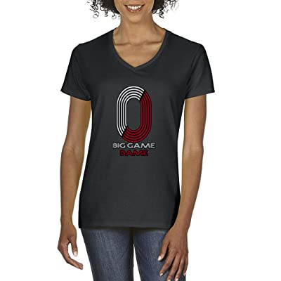 "Damian Lilliard Portland Trailblazers ""Big Game Dame"" Women's V-NECK T-Shirt"