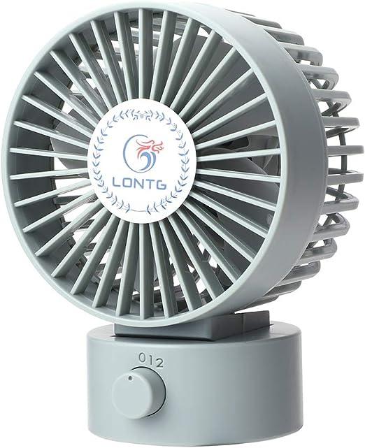 Ventilador USB silencioso Mini ventilador de mesa Fan de doble cuchilla Ventilador de circulación de aire de dos velocidades Turbo oficina coche casa compatible PC ...