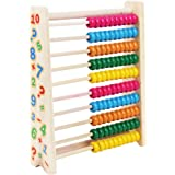 SUPVOX Wooden Abacus Colorful Counting Beads Calculation Chinese Abacus Children Kids Counting Number Maths Early…