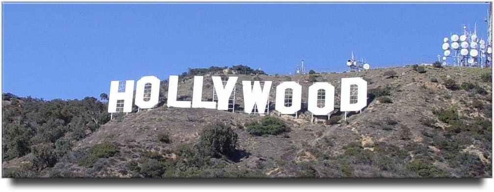 Hollywood Sign panoramic fridge magnet Los Angeles California travel souvenir