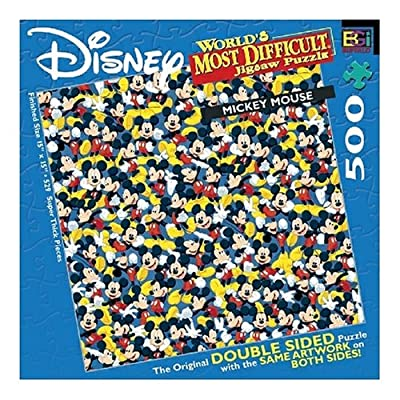 World's Most Difficult Mickey Mouse Jigsaw Puzzle 529pc: Toys & Games