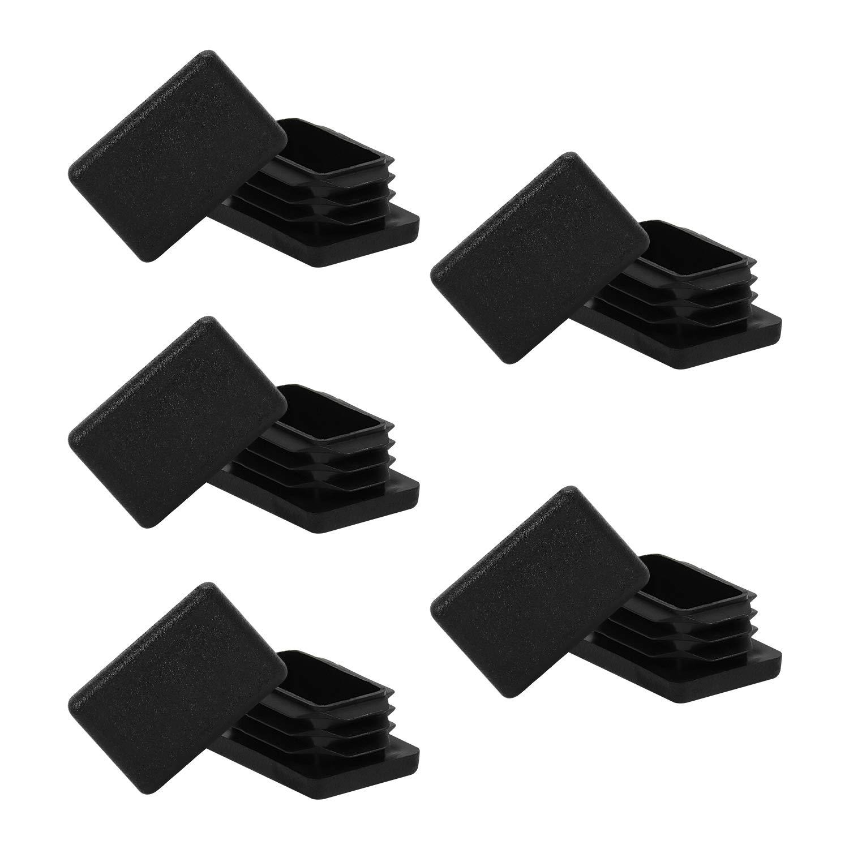 1 x 1 1//2 1 x 1.5 Inch Rectangle Tubing End Cap Plastic Plug 10 Pack 1 x 1.5 1 x 1 1//2 Black Rectangle Tube End Cap Fence Post Pipe Cover Tubing Insert Chair Glide Finishing Plug 1x1.5 End Cap