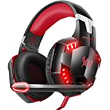 VersionTECH. G2000 Gaming Headset, Surround Stereo Gaming Headphones with Noise Cancelling Mic, LED Lights & Soft Memory Earmuffs, Works with Xbox One