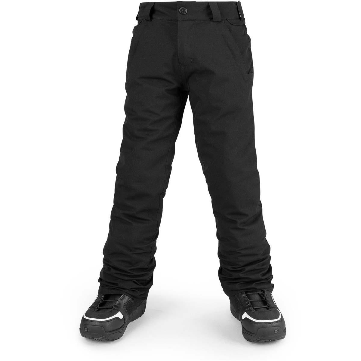 Volcom Boys' Big Freakin Snow Chino Pant, Black, M