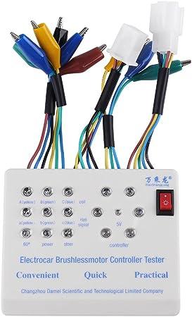 Comprobador de Motor sin Escobillas Multifuncional Portátil Probador sin Cepillo de E-bici Controlador de Motor de Bicicleta Eléctrico 24V / 36V / 48V / 60V: Amazon.es: Bricolaje y herramientas