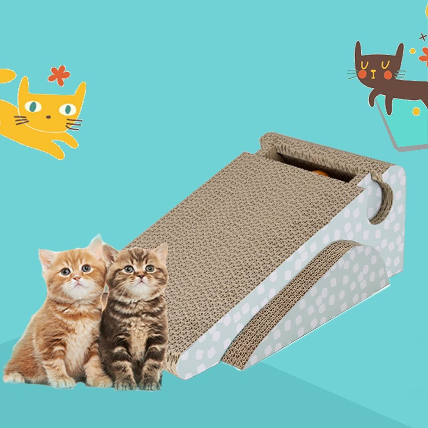 予備破壊的チューリップペットプロ 猫ちゃんのつめみがき U字型 2個パック 木目BOX付