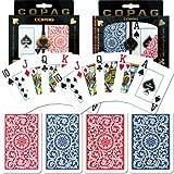 Copag Poker and Bridge Jumbo Index Set Of 2 Cards (Blue/Red)