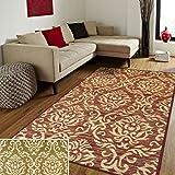 Superior Designer Fleur De Lis Area Rug (8' x 10') Red/Cream Ivory, Cream