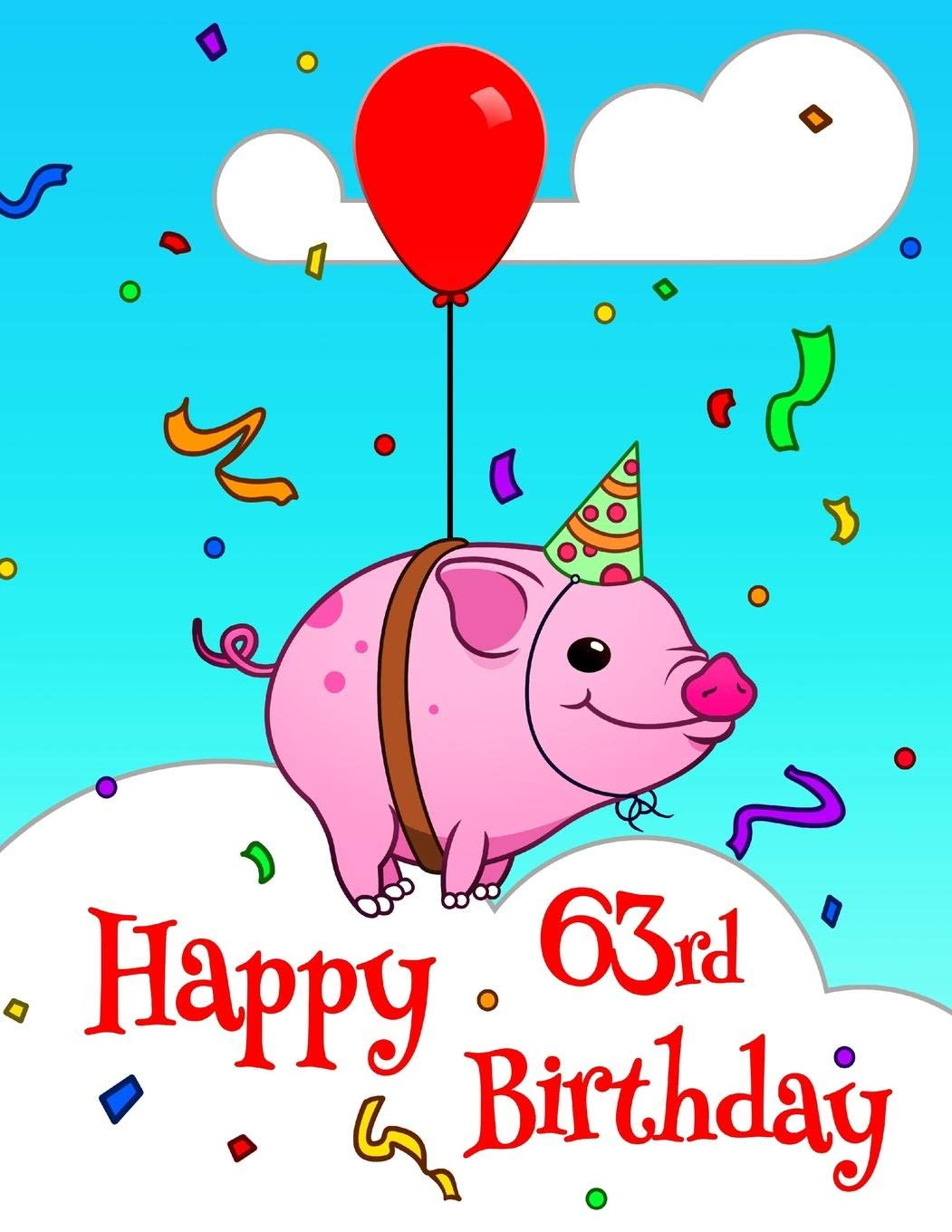 picture relating to Cute Printable Address Book named Content 63rd Birthday: Hefty Print Deal with Ebook with Lovely Pig