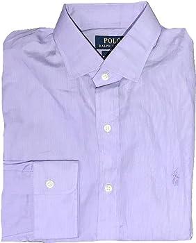 Polo Ralph Lauren - Camisa de Vestir - para Hombre Morado Lilac 38 Cuello: Amazon.es: Ropa y accesorios