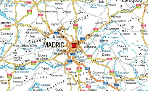 España carreteras mapa – Vinilo – 130 x 180 cm: Amazon.es: Oficina ...