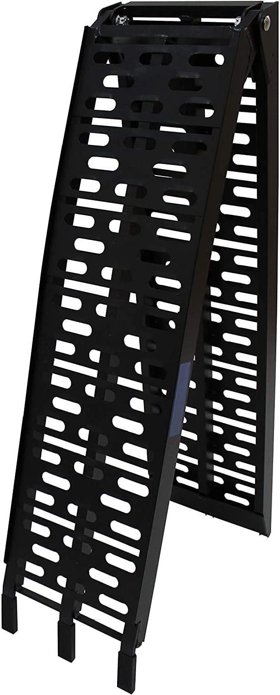 DXL Klappbar Alu Auffahrrampe ,Alu Auffahrrampe 340//680 Kg ,Rampe Verladerampen Schwarz