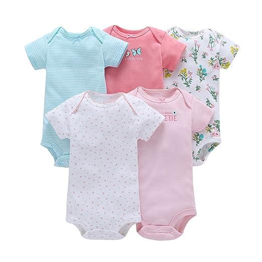 f596d9ea1 Amazon.com  Toraway Toddler Rompers Clothes 5Pcs Newborn Infant Baby ...