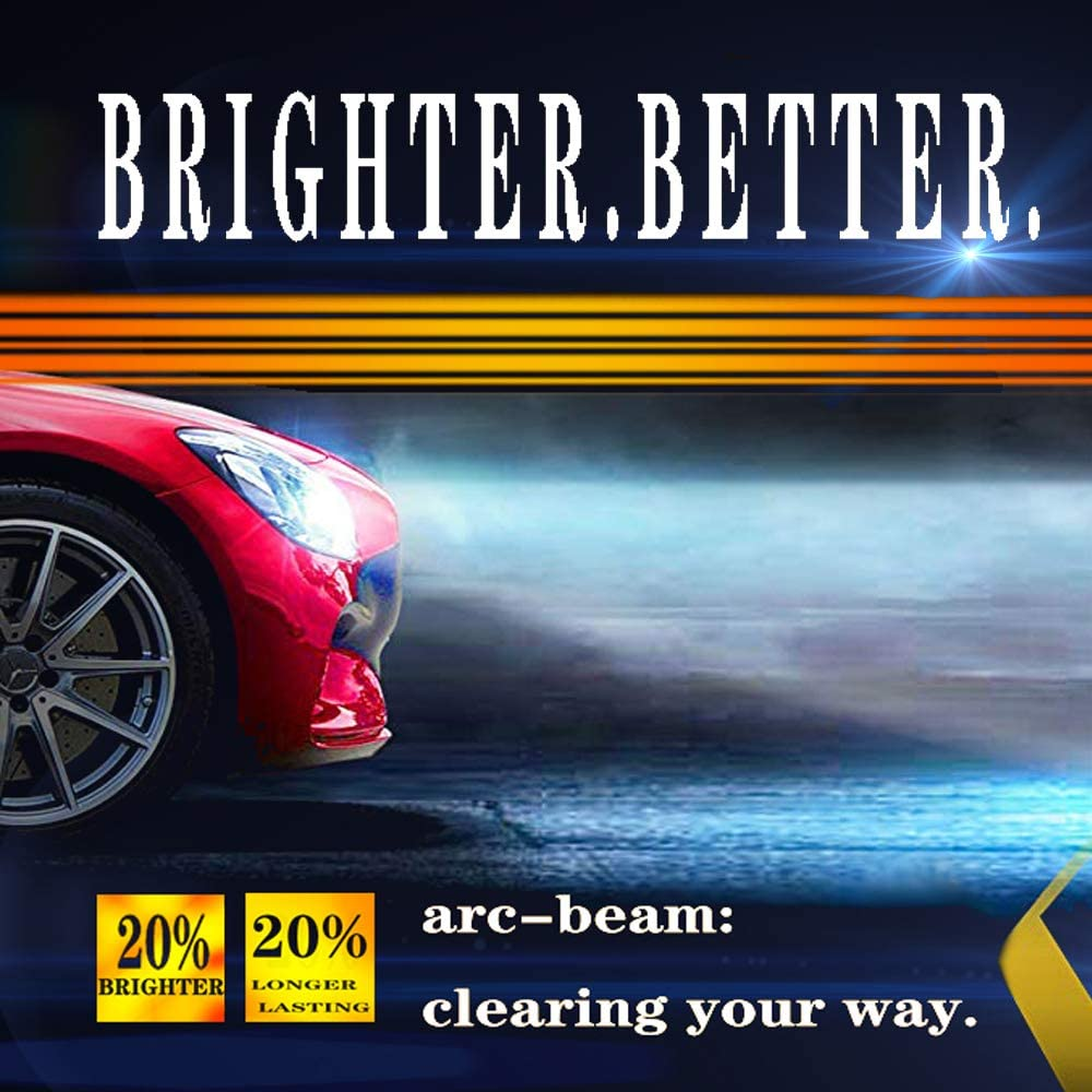 LED Headlight Bulb,55W 8400Lumens 6K Cool White Real High Power Conversion Kit 9006,1 Pair 2 Yr Warranty