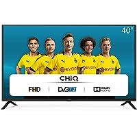 CHiQ Televisor 40 Pulgadas Full HD (NO Smart TV), 3 x HDMI, 2 x USB, Sintonizador Triple (DVBT / T2 / C / S2…