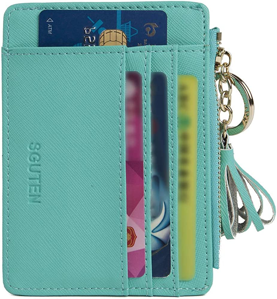 Pink Colorful And Fragrant Real Leather Zip Around Wallet Wristlet minimalist wallet Travel Purse Wristlet