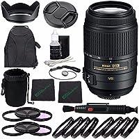 Nikon AF-S DX NIKKOR 55-300mm f/4.5-5.6G ED VR Lens + 58mm 3 Piece Filter Set (UV, CPL, FL) + 58mm +1 +2 +4 +10 Close-Up Macro Filter Set with Pouch + Lens Cap + Lens Cleaning Pen Bundle