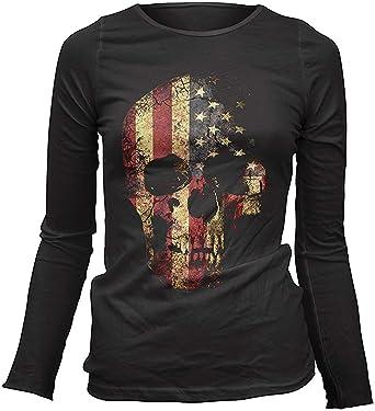 t-shirt tête de mort femme 11