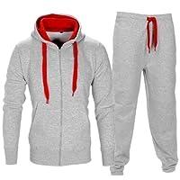 Decha Homme Sweat à Capuche et Pantalon Longue pour Sport Sportswear Jogging 2 Pièces Survêtement Ensemble de Sport Casual