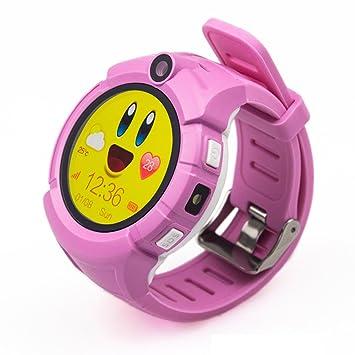 PINCHU Relojes Inteligentes para Niños Q360 Ubicación GPS Reloj Inteligente para Niños Sos Monitor Anti-Perdidos Reloj para Bebés PK Q50 Q90,Pink: ...
