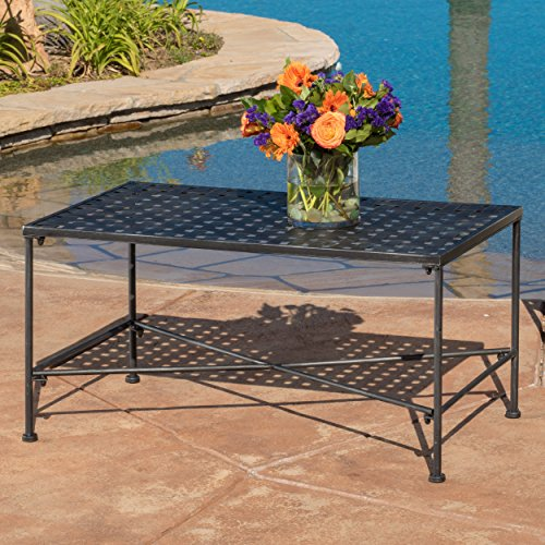 Kent Outdoor Black Iron Coffee Table (Outdoor Iron Table)