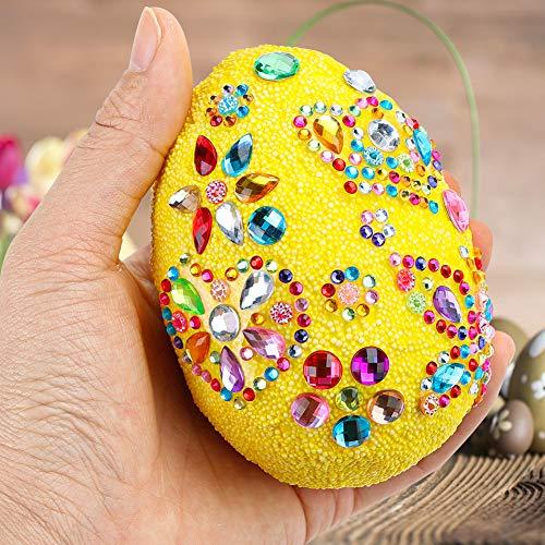 Shindel DIY Easter Egg, 2PCS Foam Decorative Easter Egg Ornaments Easter Day Party Decoration