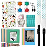 Katia Instant Camera Accessories Bundles for Fujifilm Instax Mini 8 Instant Film Camera 9(with Mini 8 Case/Album/ Selfie Len/Filter/ Frames/Stickers/ Strap - Blue