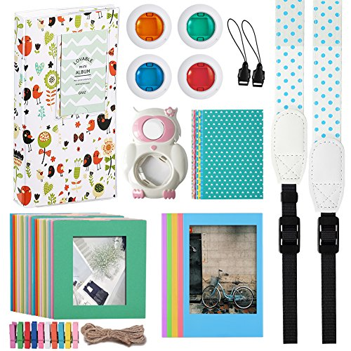 Katia Instant Camera Accessories Bundles for Fujifilm Instax Mini 8 Instant Film Camera 9(with Mini 8 Case/Album/ Selfie Len/Filter/ Frames/Stickers/ Strap - Blue by Katia