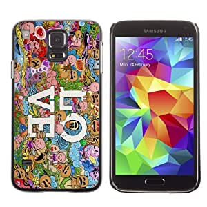 Licase Hard Protective Case Skin Cover for Samsung Galaxy S5 - Colorful LOVE Pattern