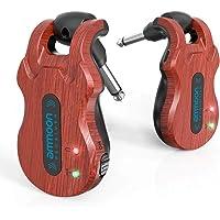 ammoon Wireless Guitar System 4 Channels Audio Digital Guitar Transmitter Receiver 300 Feet Transmission Range